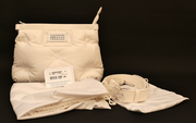 MAISON MARTIN MARGIELA White Quilted Leather Glam Slam Bag BRAND NEW AUTHENTIC